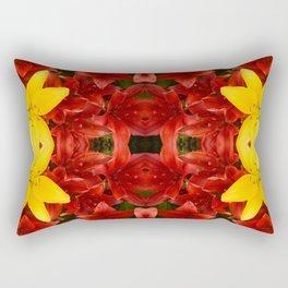 """A Gathering of Lilies"" Remix - 1 (1-1) [D4465~12] Rectangular Pillow"