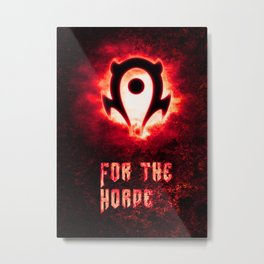 Wow Horde Metal Print