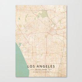 Los Angeles, United States - Vintage Map Leinwanddruck
