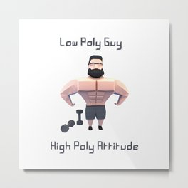 Low Poly Guy Metal Print