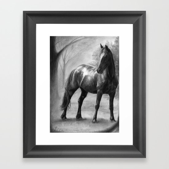 Horse V Framed Art Print