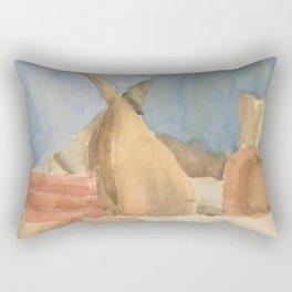 Books and Instruments Rectangular Pillow