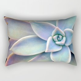 Pastel Succulent Rectangular Pillow