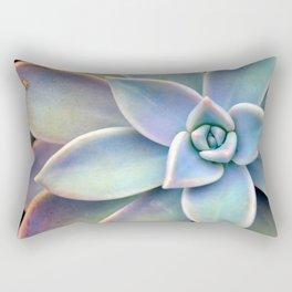 Pastel Succulent Rectangular Pillow