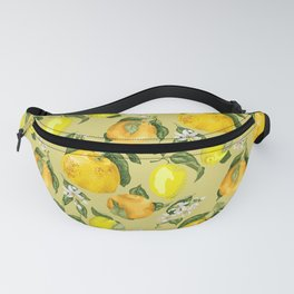 Lemon and Grapefruit realistic branches Fanny Pack