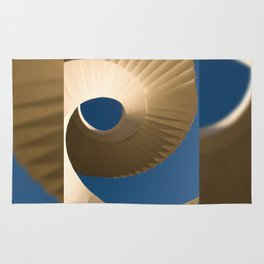 bottom view at twisted stairs Rug