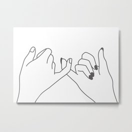 Pinky Promise 3 Metal Print