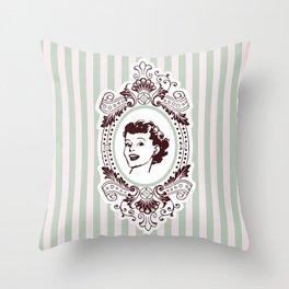Pretty Woman Throw Pillow