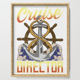Funny Cruise Director Boating Captain Cruising Serving Tray