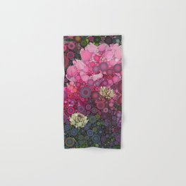 Pink Flowers at Twilight Abstract Hand & Bath Towel