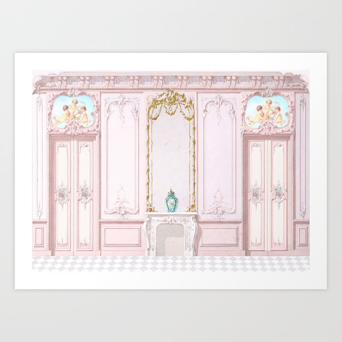 French Apartment Diorama Art Print