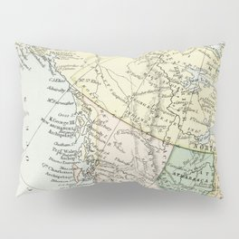 Vintage Map of Canada Pillow Sham