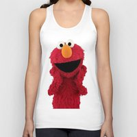 duvet cover Tank Tops featuring ELMO DUVET COVER by aztosaha