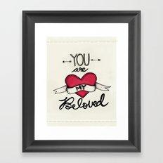 You Are My Beloved Framed Art Print