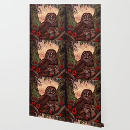 Tawny Owlets Wallpaper