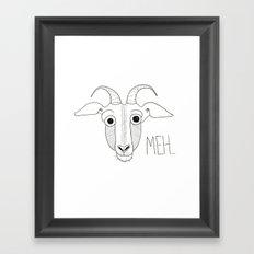 Meh Goat Framed Art Print