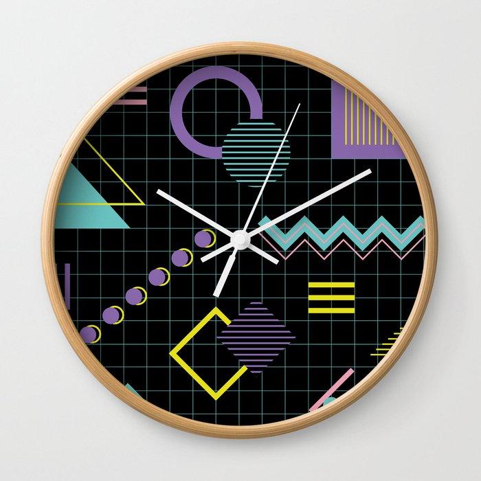 Memphis Pattern 4 - 80s Retro Wall Clock