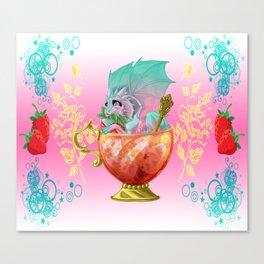 Strawberry Iced Tea Dragon Canvas Print