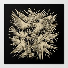 Birdfight Canvas Print