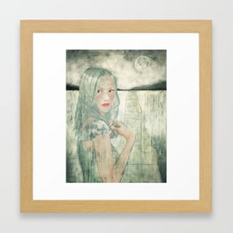 Girl at Dusk Framed Art Print