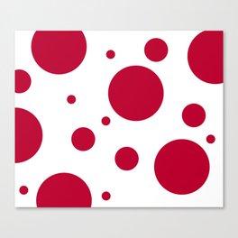 Zen Sphere - Red on White Canvas Print