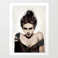 mother Art Prints featuring Mother, dear by Feline Zegers