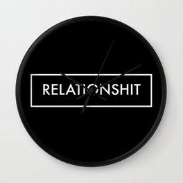 Relationshit Wall Clock