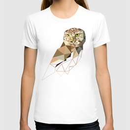 Geometric owl art Bird artwork Woodland birds T-shirt