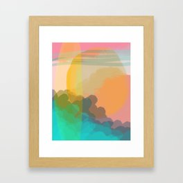 Shapes and Layers no.10 - Sun, Waves, Clouds, Sky abstract Framed Art Print