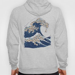 The Great Wave of Corgis Hoody