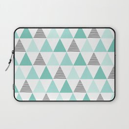 Black Stripes and Mint Triangles Laptop Sleeve