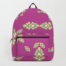 Jewelbox: Citrine Brooch on Dark Lipstick Backpack