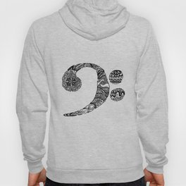 Patterned Bass Clef Hoody