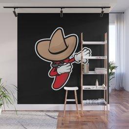 Funny Dabbing Chili Pepper Wall Mural