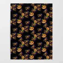 Pumpkin Bae - Halloween Girl - pattern Poster