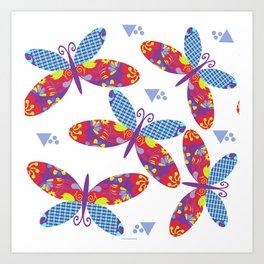 Butterflyes 42 Art Print