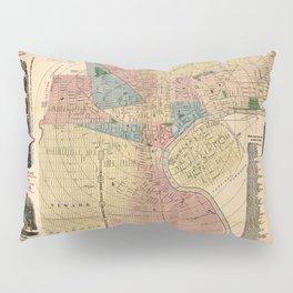 Map Of Newark 1876 Pillow Sham