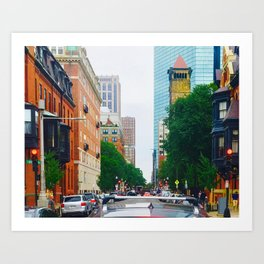 Boston Streets Art Print