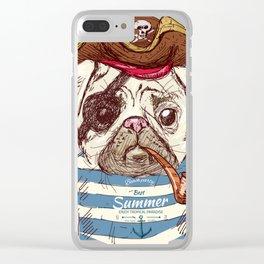 Pirate Dog Clear iPhone Case