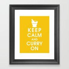 Keep Calm and Curry On Framed Art Print