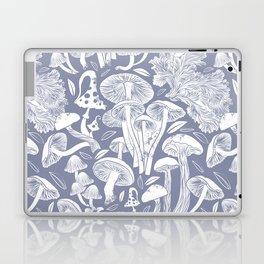 Delicious Autumn botanical poison IV // blue grey background Laptop & iPad Skin
