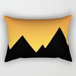 Mountains at Sunset (Red & Yellow) Rectangular Pillow
