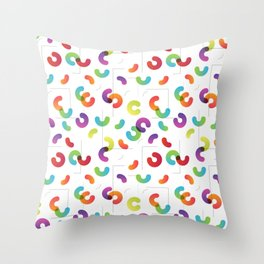 Funny color design. Arcs and Lines #1 Throw Pillow