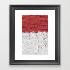 Bleached Brick Framed Art Print