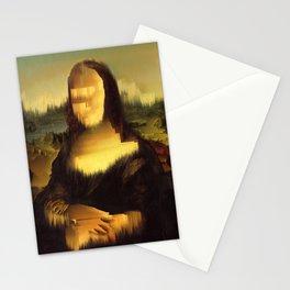 Mona Lisa Glitch Stationery Cards