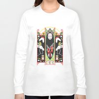 deco Long Sleeve T-shirts featuring Spirited Deco by Ashley Hay