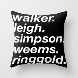 WOC curators and artists (black version) Throw Pillow