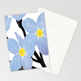 'I think of you Bernie' / Forget-me-not Stationery Cards