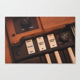 Hammond Switches / Knobs Canvas Print