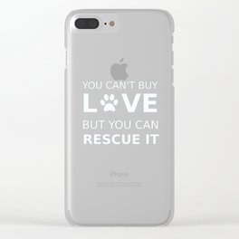 Animal rescue love Clear iPhone Case